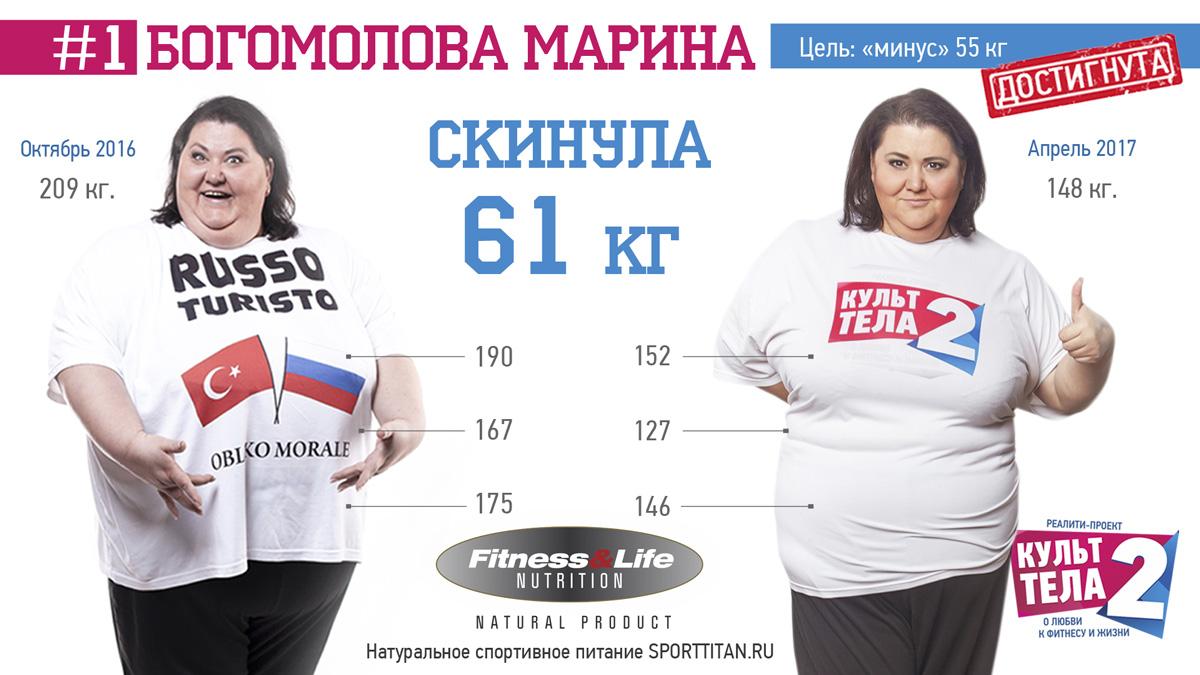 Марина Богомолова дает консультации по похудению с Кило-Лайт